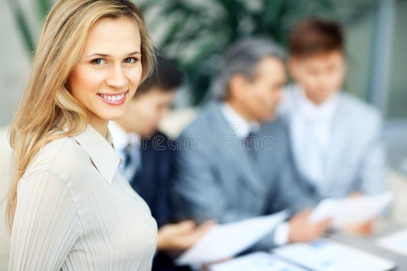 企业成功的妇女 免版税库存照片
