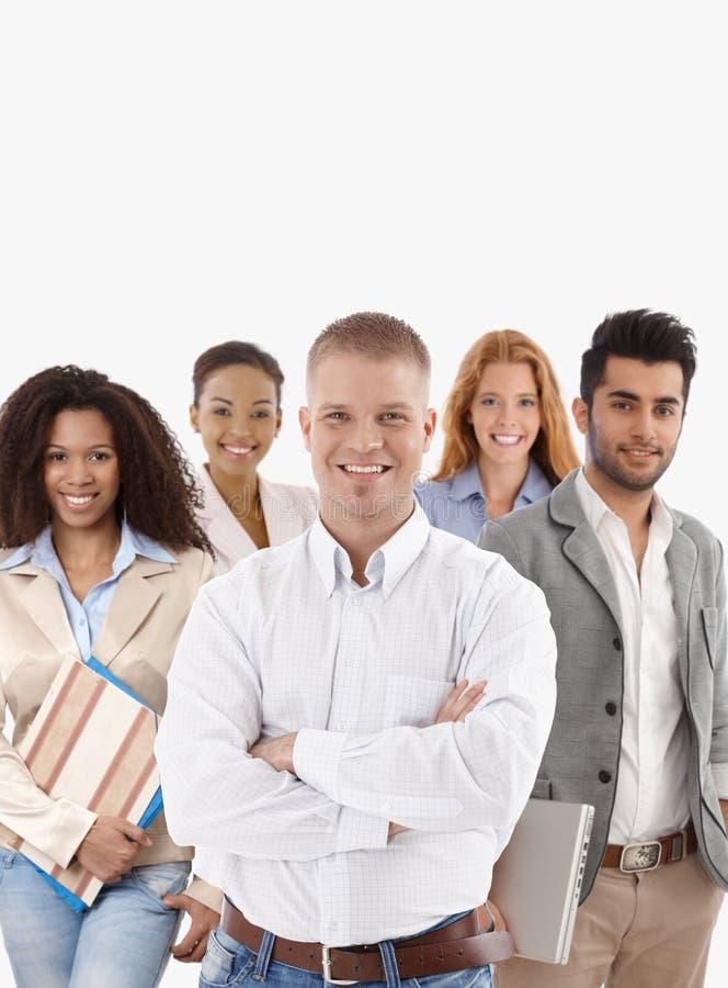 企业成功的小组年轻人 免版税库存照片