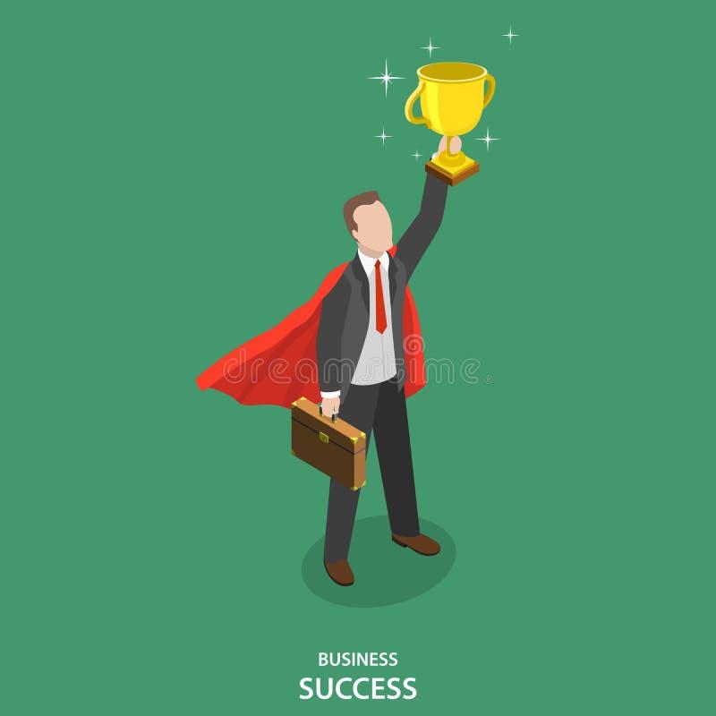 企业成功等量平的传染媒介概念 向量例证