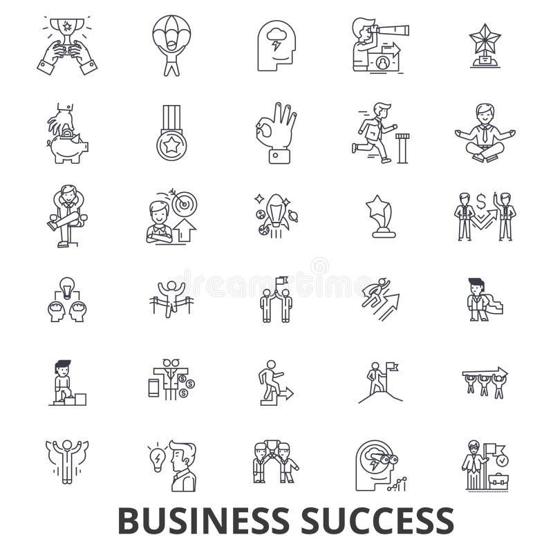 企业成功,概念,成长,成功,成就,公司,奖线象 编辑可能的冲程 平的设计 库存例证