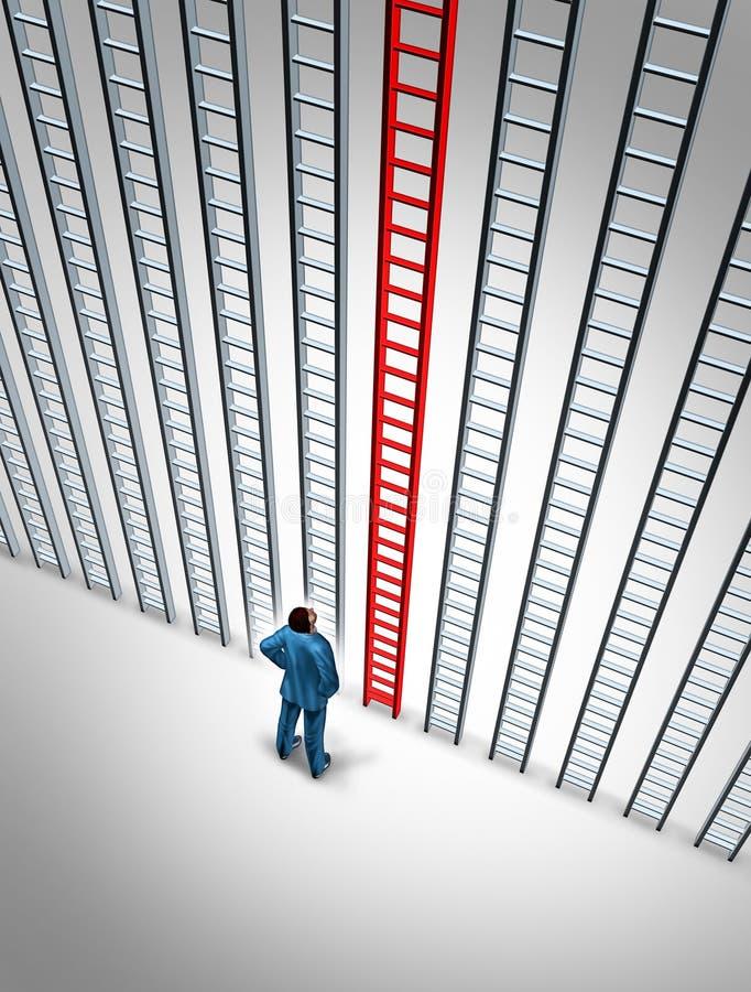 企业成就选择 向量例证