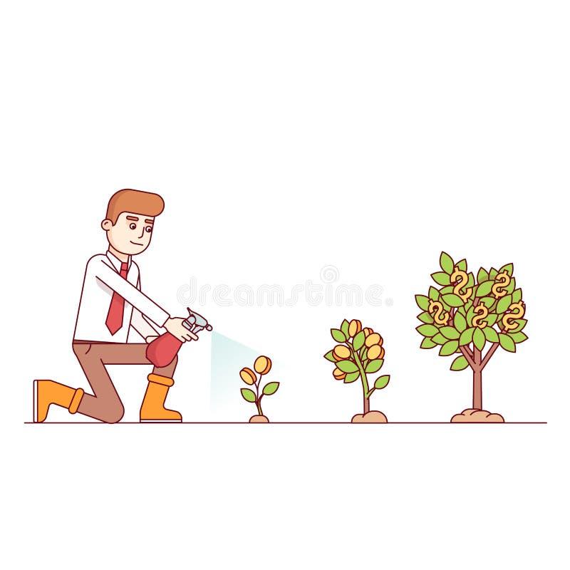企业成长和企业精神概念 皇族释放例证