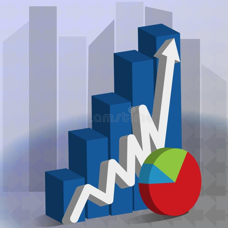 企业成长长条图标志传染媒介图象 库存例证