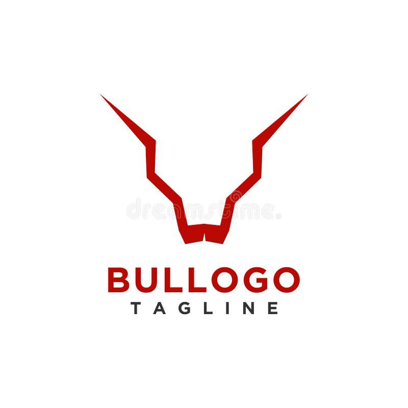 企业或公司品牌的公牛商标设计简单的最低纲领派样式 向量例证
