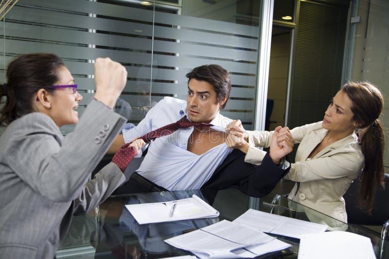 企业战斗 免版税图库摄影