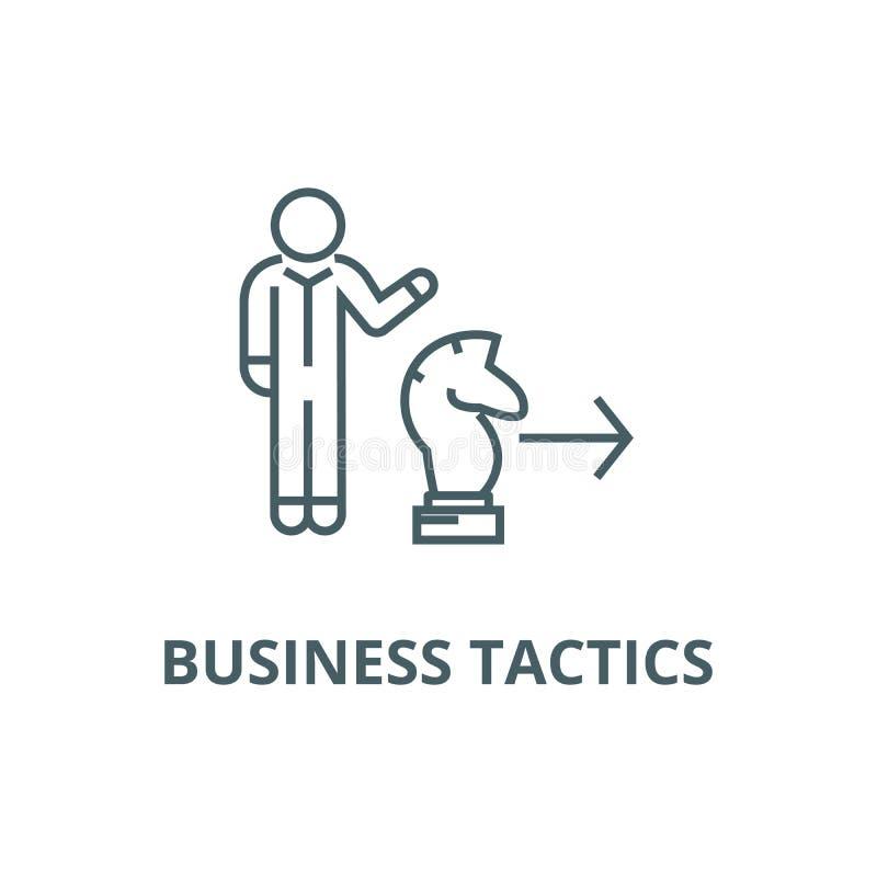 企业战术,棋马线象,传染媒介 企业战术,棋马概述标志,概念标志,平展 皇族释放例证