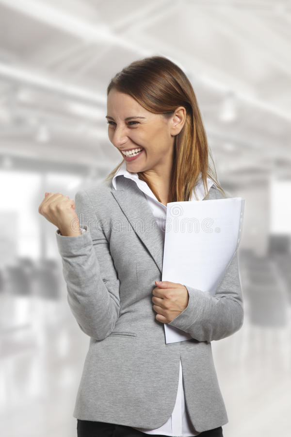 企业战胜妇女 免版税图库摄影