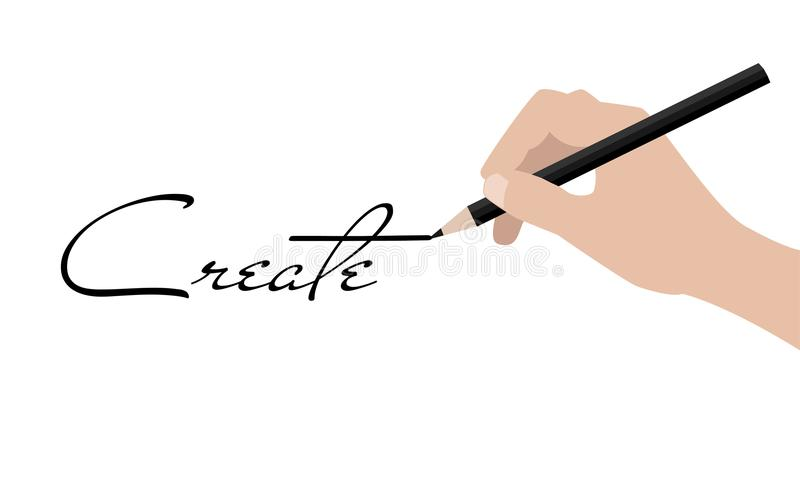 企业手文字创造 库存例证