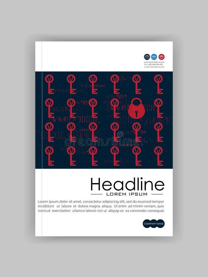 A4企业技术书套设计模板 锁定和关键字 有益于股份单,年终报告,杂志,学报,网站, 皇族释放例证
