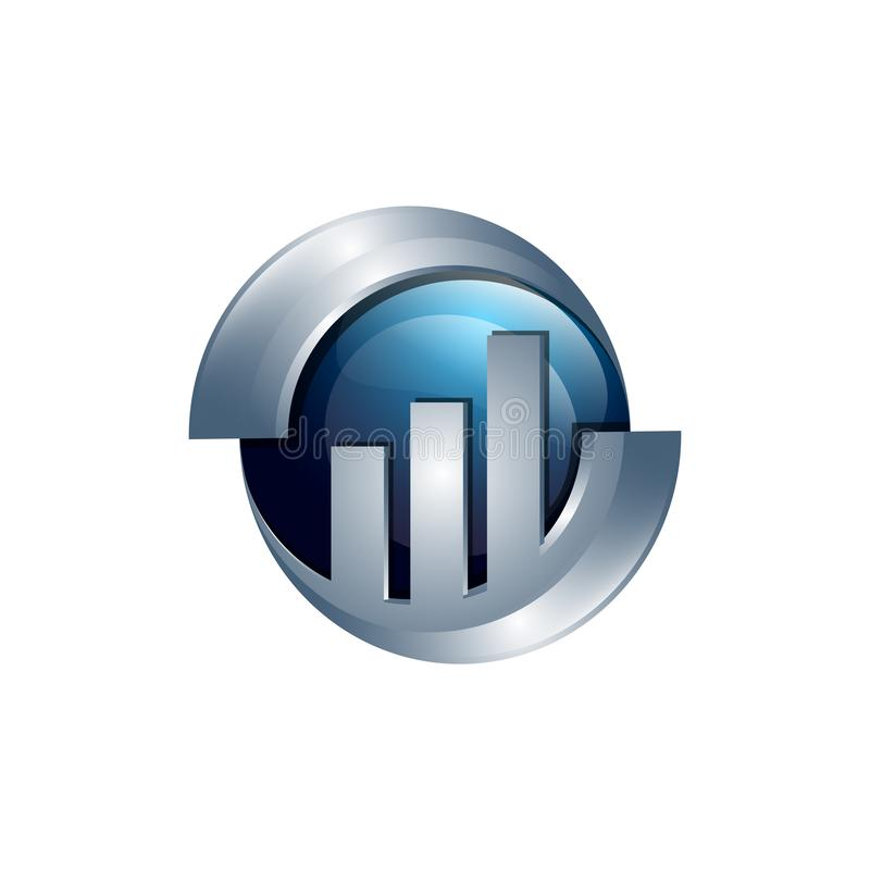 企业抽象商标标志 传染媒介商标概念例证 库存例证