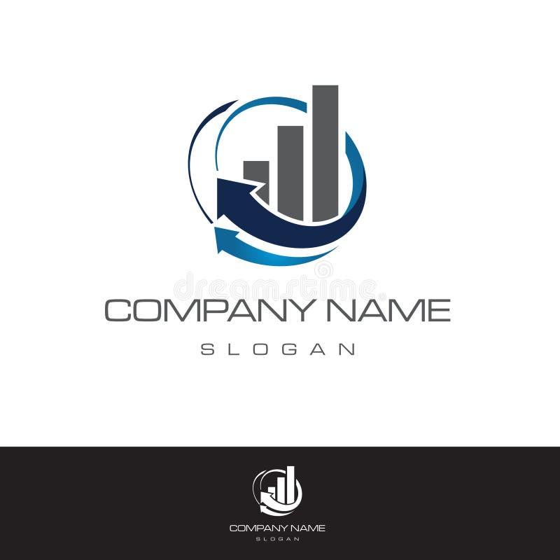 企业抽象商标标志 营销概念例证 经济抽象垂直的形状标志 与arr的图 向量例证