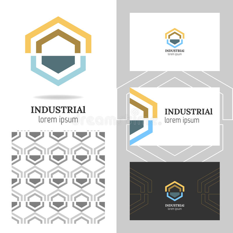 企业抽象商标,公司的象 编辑可能的图形设计 库存例证