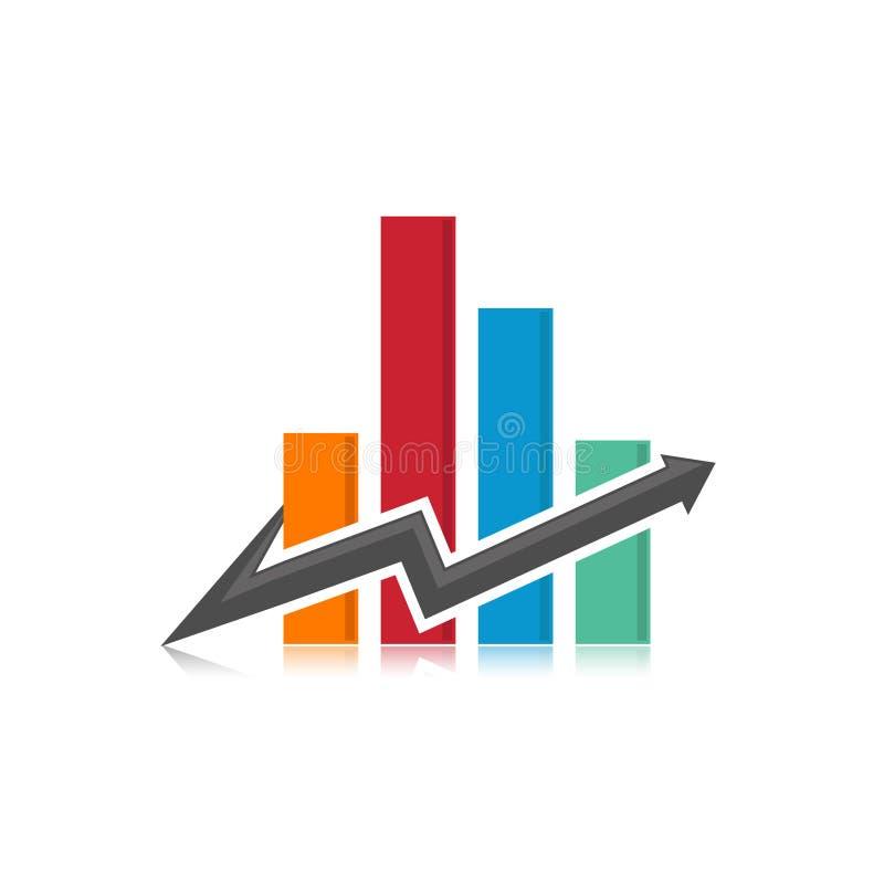 企业抽象符号-商标概念例证 抽象徽标 垂直的形状标志 向量例证