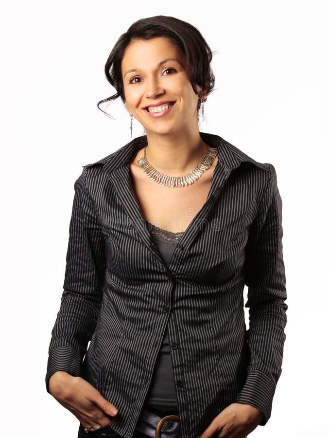 企业拉丁微笑的妇女 库存图片