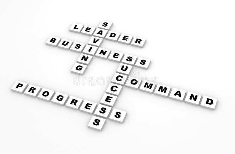 企业拼字游戏 向量例证