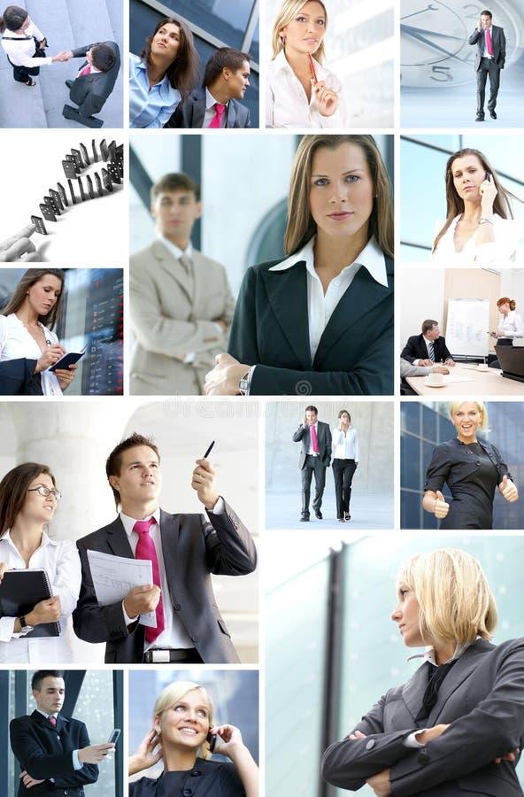 企业拼贴画由企业照片做成 库存照片