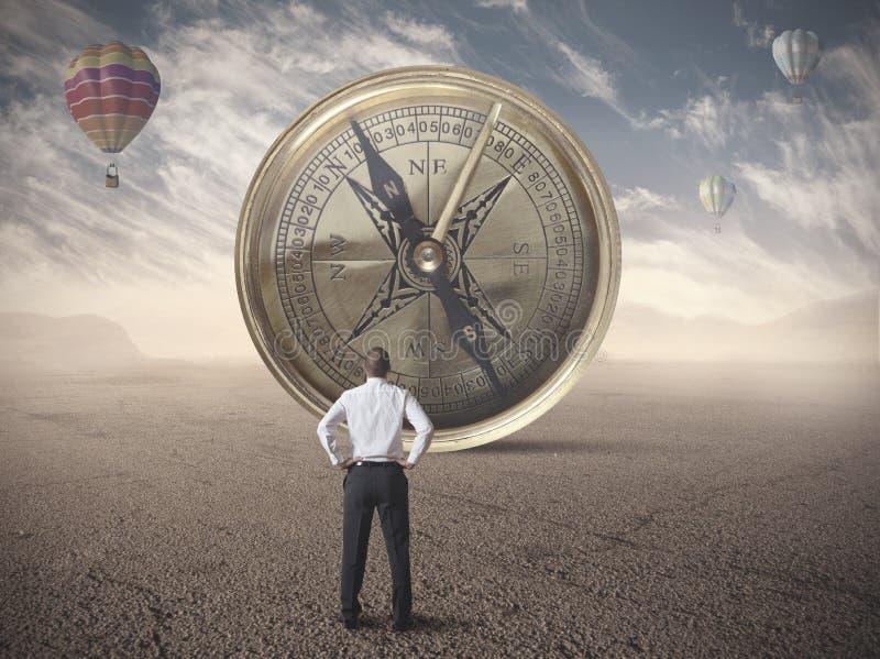 企业指南针 免版税库存图片