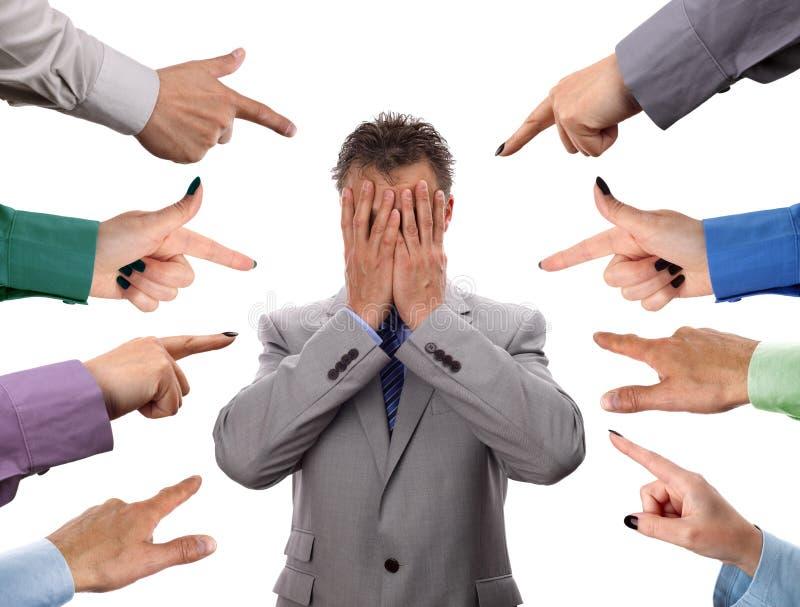 企业指责 免版税库存图片