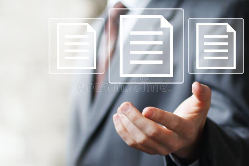 企业按钮文件象网信息 库存照片