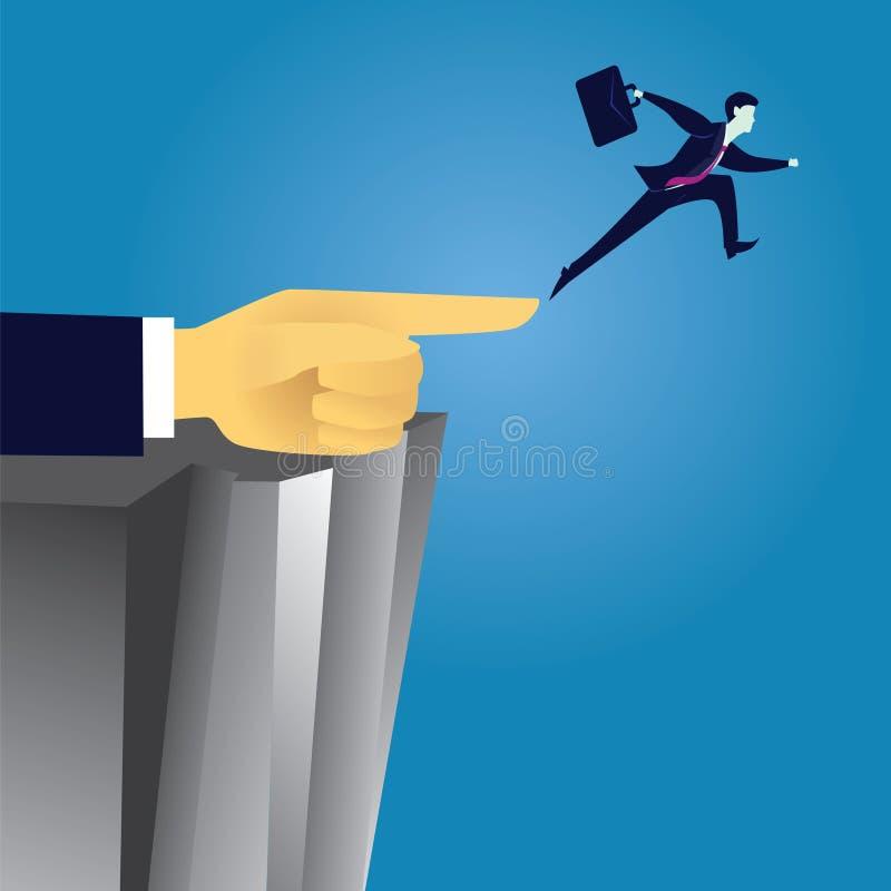 企业挑战方向领导概念 库存例证