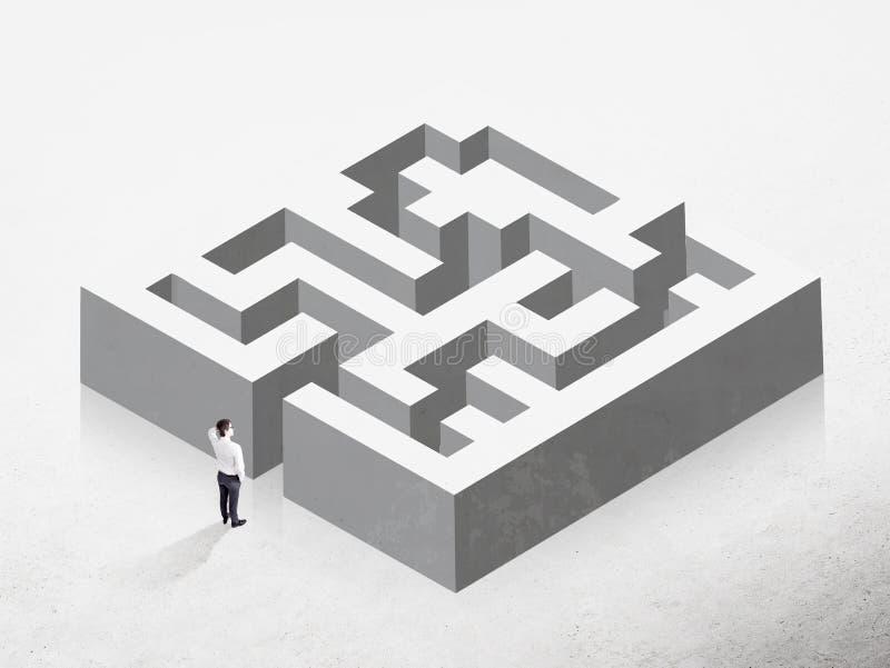 企业挑战概念 库存例证