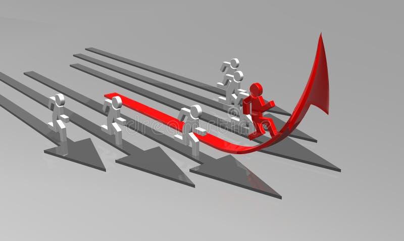 企业挑战 库存例证