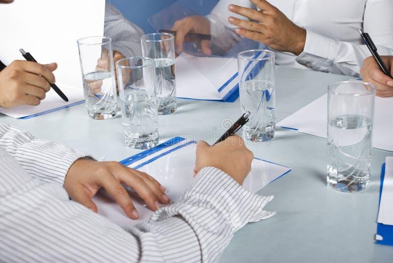企业接近的会议 免版税库存图片
