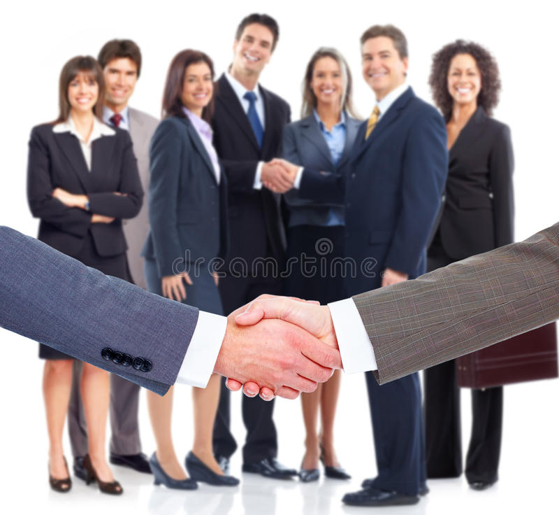 企业握手。 库存图片