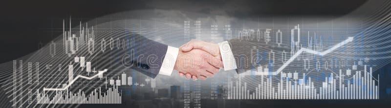 企业握手背景 免版税图库摄影