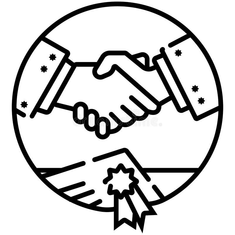 企业握手,合同约定象 皇族释放例证