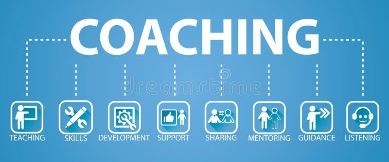 企业教练的领导良师概念 传染媒介illustrat 向量例证