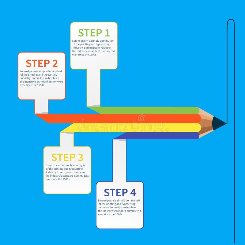 企业教育铅笔infographics选择 向量例证