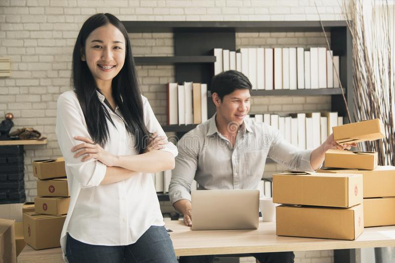 企业数字式网上是新开始的小企业 免版税库存照片