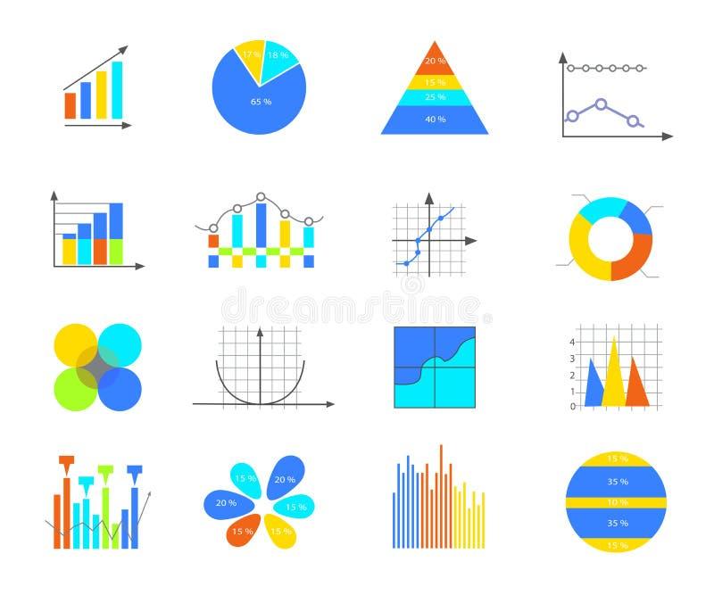 企业数据元素 库存例证