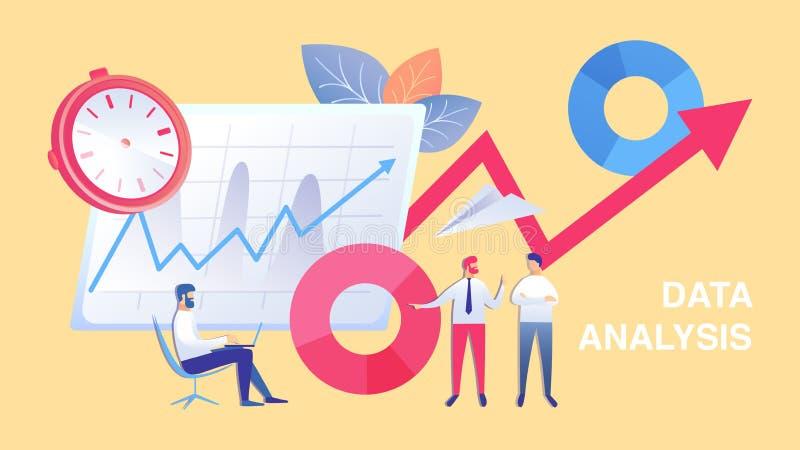 企业数据分析队平的例证 向量例证