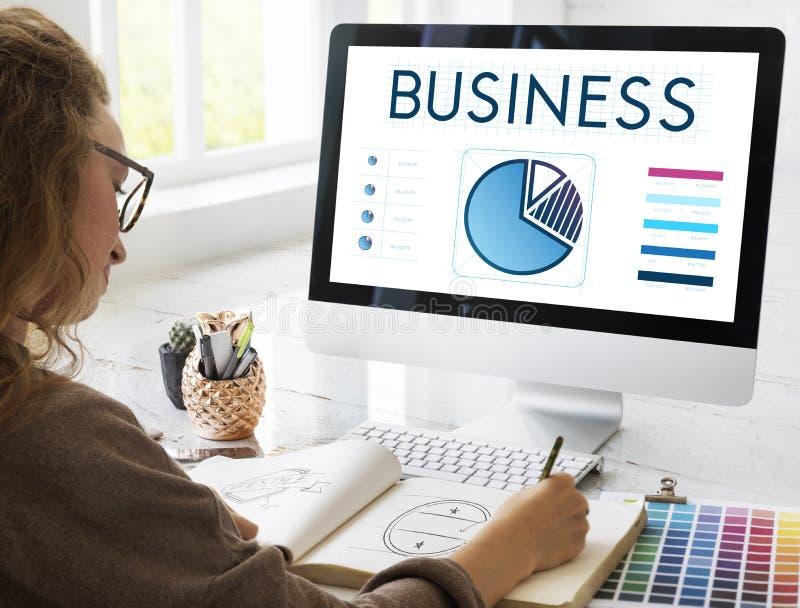 企业数据分析介绍信息概念 免版税库存图片