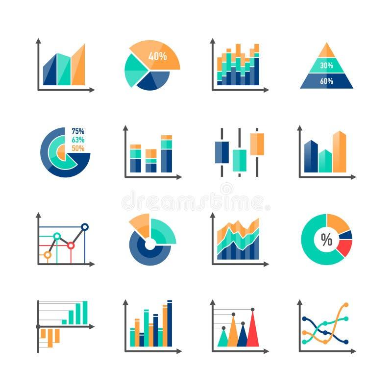 企业数据市场infographic元素 库存例证