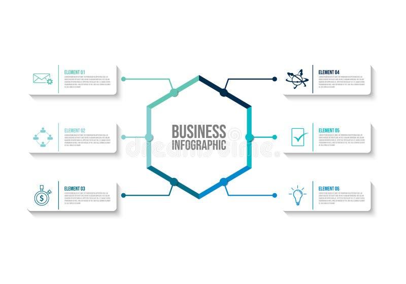 企业数据形象化infographic设计模板传染媒介 向量例证