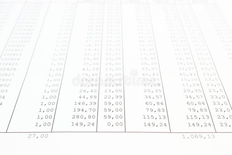 企业数据报告特写镜头  免版税库存照片