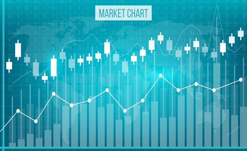企业数据财政图的创造性的传染媒介例证 财务图艺术设计 生长,市价跌落股票分析 向量例证