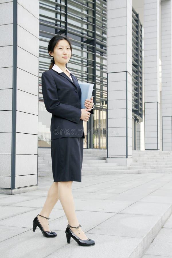 企业文件妇女woth年轻人 库存照片