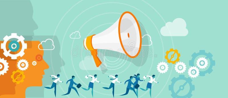 企业方向领导营销队 向量例证