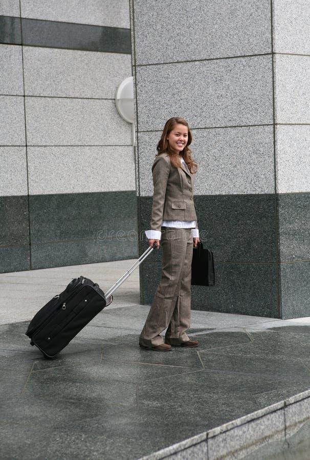 企业旅行的妇女 免版税图库摄影