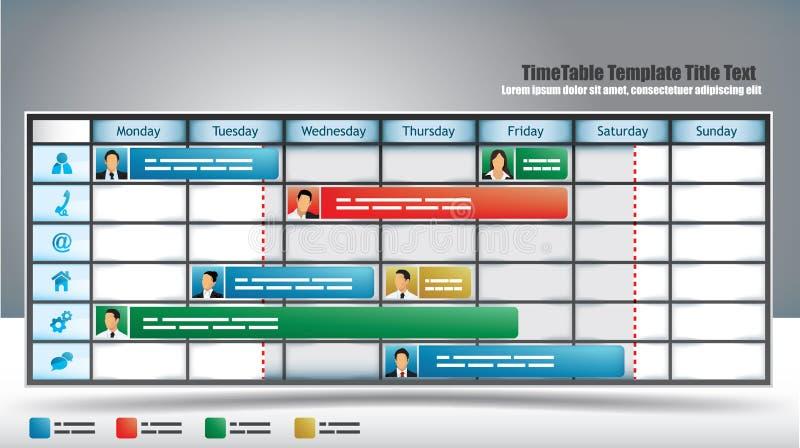 企业时间表 库存例证