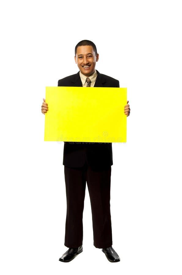 企业暂挂人符号黄色 图库摄影