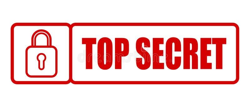 最高机密的不加考虑表赞同的人 向量例证