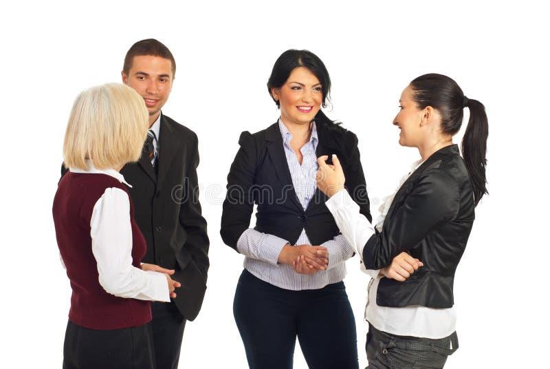 企业有交谈的组人 免版税库存照片