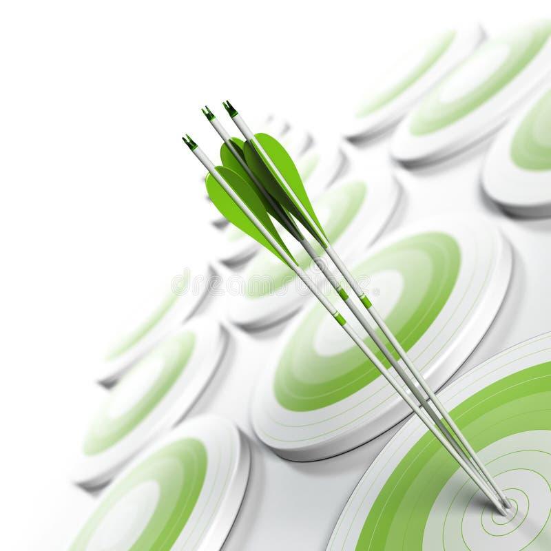 企业有战略意义概念的营销 皇族释放例证