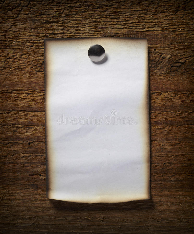企业木便条纸的墙壁 库存图片