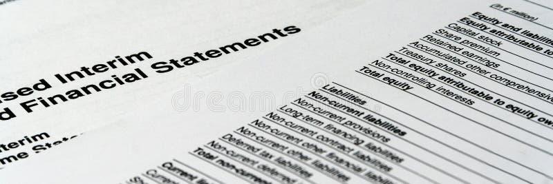 企业构成 财务分析-收入报告平衡 免版税库存图片